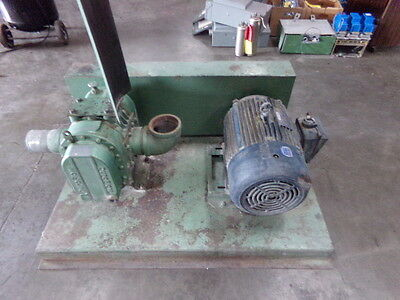Duroflow Vacuum Blower Package On Stand- Model Unknown With 20 Hp Leeson Motor