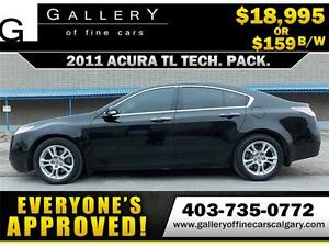 2011 Acura TL TECH PACK $159 bi-weekly APPLY NOW DRIVE NOW