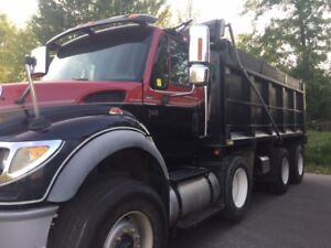 2006 International 7600 SBA Triaxle Dump Truck