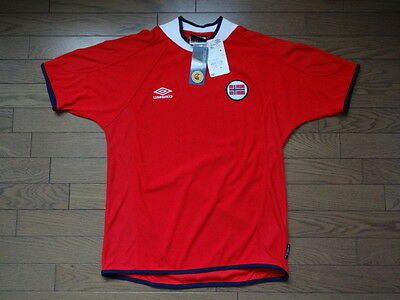 Norway 100% Official Soccer Jersey/Shirt 2000/01 M Still BNWT NEW MIINT Rare image