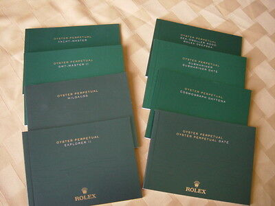 ROLEX GMT II INSTRUCTION BROCHURES/MANUALS. ALL MODELS AVAILABLE IN ENGLISH
