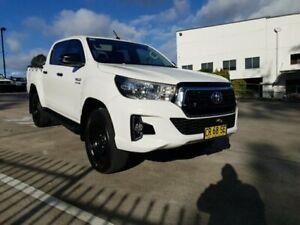 2018 Toyota Hilux GUN126R MY17 SR (4x4) White 6 Speed Automatic Dual Cab Utility Singleton Heights Singleton Area Preview