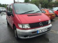 2002 Mercedes Vito, starts and drives very well, MOT until April 2017, low mileage of 83,000, van lo
