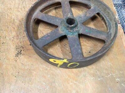 Antique Cast Iron Flat Belt Pulley 2x10 Gas Steam Engine Sawmill Steampunk Lamp