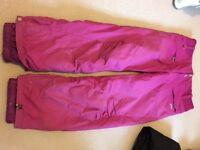 Ladies Pink Roxy Salopettes XL UK 14-16