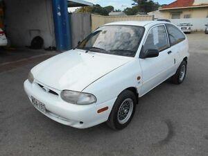 1998 Ford Festiva WF Trio S White 5 Speed Manual Hatchback Christies Beach Morphett Vale Area Preview