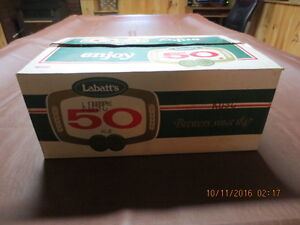 Labatts 50 beer case and stubby bottles