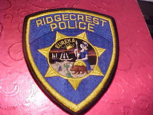 RIDGECREST CALIFORNIA POLICE PATCH SHOULDER SIZE UNUSED