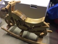 Brand New Rocking Motorbike Wooden Toy by MJ Mark