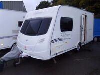 2008 Lunar Clubman 475 CK 2 Berth Touring Caravan. Inc Awning.
