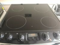 Stainless Steel Zanussi Double Oven Electric Cooker with Ceramic Hob Model ZCV68300XA