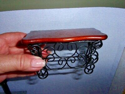 - LOVELY SIDEBOARD - WALNUT - WOOD AND METAL -  DOLL HOUSE  MINIATURE