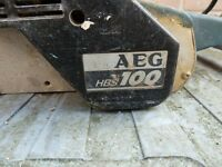 AEG BELT SANDER 240v....IN NEED OF ATTENTION!