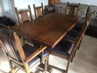 Solid Extendable Dining Table and 6 Chairs