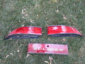 95-99 Mitsubishi Eclipse OEM tail light set driver passenger 3pc