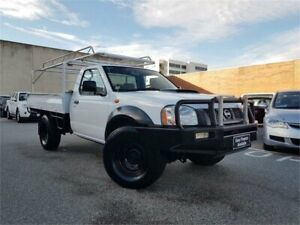 2008 Nissan Navara D22 MY08 DX (4x4) White 5 Speed Manual Cab Chassis Osborne Park Stirling Area Preview
