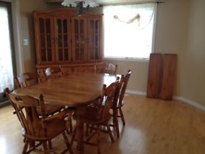 China Cabinet, Dining Room Table and Chairs