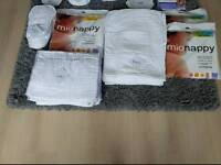 Bambino Mio Prefold Nappies and White covers
