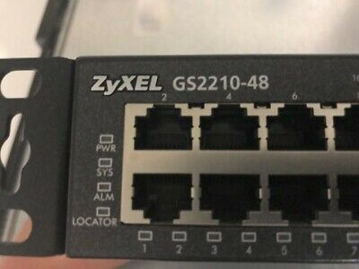 ZyXEL GS2210-48 48-Port Gigabit Switch mit Rack Mount Kit