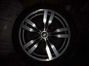 4 BMW Rims with Low Profile Tires