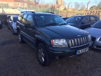 JEEP GRAND CHEROKEE 2.7 CRD Overland Station Wagon 4x4 5dr *PART SERVICE HISTORY**VERY GOOD EXAMPLE*
