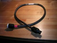 Audiophile mains power cord. 1.2 meters. Was $240