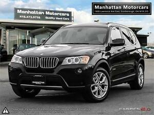 2013 BMW X3 28i X-DRIVE - PANORAMIC|360 CAMERA|1 OWNER|79,800KM