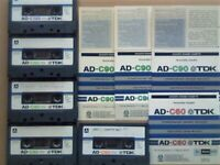 £15+FP&P 5x TDK AD 60 90 120 ACCOUSTIC DYNAMIC CASSETTE TAPES 1979-1981 JOB LOT OR SOLO