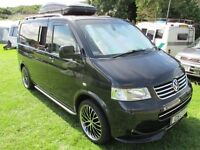 VW Transporter T5 Camper Trend line Tailgate A/C– 2.5 (180) 6 speed manual Pure Luxury & Like New