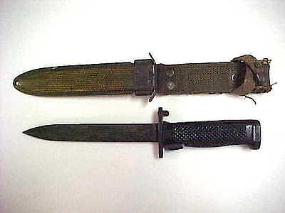 VINTAGE IMPERIAL M5A1 BAYONET AND SCABBARD
