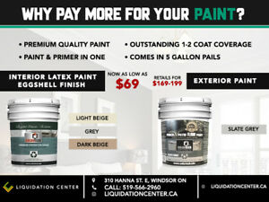 Wholesale Paint - 5 Gallon Pails -Premium Quality Latex Eggshell
