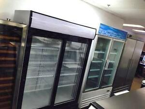 SINGLE, DOUBLE GLASS DOOR FREEZERS, COMMERCIAL FRIDGES, COOLERS, VERTICAL, STAND UP, COUNTERTOP INDUSTRIAL REFRIGERATORS