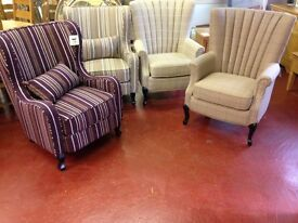 NEW Fireside armchairs in stock FROM £239 GET YOURS TODAY, OPEN SUNDAY 1-3pm