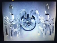 Vintage Comeragh Waterford Crystal Double Arm Wall Sconce
