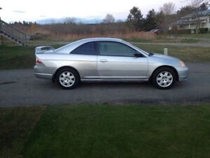 **REDUCED** 2002 Honda Civic Coupe (2 door)