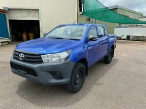 2016 Toyota Hilux GUN125R Workmate (4x4) Blue 6 Speed Automatic Dual Cab Utility Holtze Litchfield Area Preview