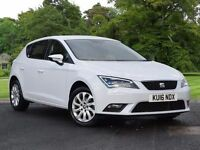 SEAT Leon 1.6 TDI SE (Tech Pack) 5dr (start/stop) (white) 2016
