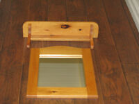 Pine Mirror and Shelf For sale