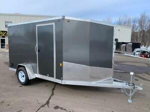 NEW 2019 ONE 6' x 10'+4' XTR ENCLOSED TRAILER