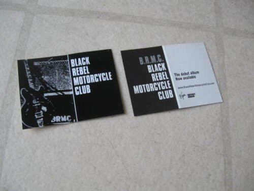 BLACK REBEL MOTORCYCLE CLUB 2001 PAIR(2) GLOSSY PROMOTIONAL STICKERS MINTY FRESH