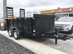 6.5x12 5 Ton Dump Trailer With Built In Ramps