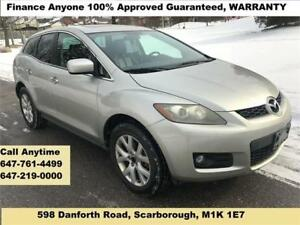 2008 Mazda CX-7 GT AWD FINANCE 100% APPROVED (CALL 647-761-4499)