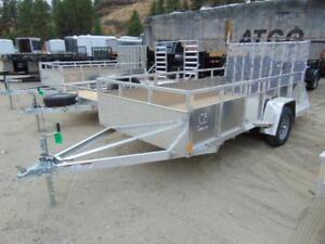 2018 C&B 6X12 Aluminum Utility / ATV Trailer w. Fold Down Ramp