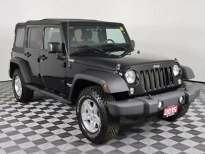 2015 Jeep Wrangler Unlimited SPORT/MANUAL TRANSMISSION/SOFT TOP