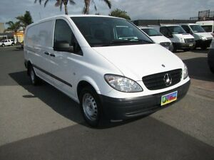 2010 Mercedes-Benz Vito 639 MY10 111CDI Low Roof Extra Long Arctic White 5 Speed Automatic Van Heatherton Kingston Area Preview