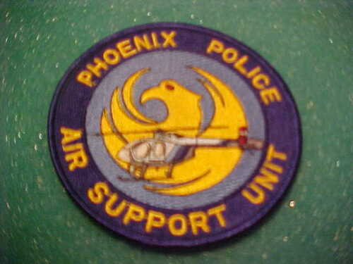 PHOENIX ARIZONA AIR SUPPORT UNIT POLICE PATCH SHOULDER SIZE UNUSED 4 X 4