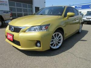 2011 Lexus CT 200h-SUN ROOF,1 OWNER,R CAM,ALLOYS,WARRANTY,$14495