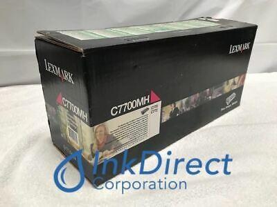 Genuine Lexmark C7700MH Return Program  Print Cartridge Magenta C770 C770DN C770 (Return Program Magenta Print)