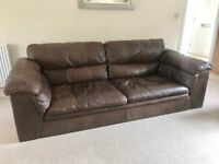 Two leather sofas - high quality & great condition, 1x large + 1x medium sofa, non pets/smokers.