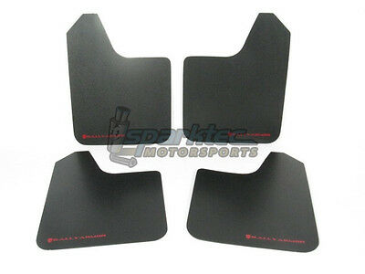 Rally Armor Universal Basic Mud Flaps Black with Red Logo CarTruckSUV ALL NEW